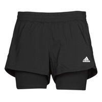 Textil Mulher Shorts / Bermudas adidas Performance PACER 3S 2 IN 1 Preto