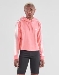 Textil Mulher Sweats adidas Performance W 3S FT CRO HD Rosa