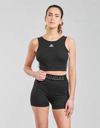 Textil Mulher Tops e soutiens de desporto adidas Performance W 3S CRO Preto