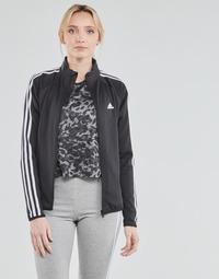 Textil Mulher Casacos fato de treino adidas Performance W 3S TJ Preto