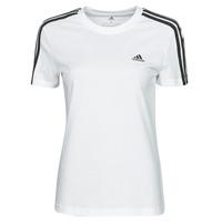 Textil Mulher T-Shirt mangas curtas adidas Performance W 3S T Branco