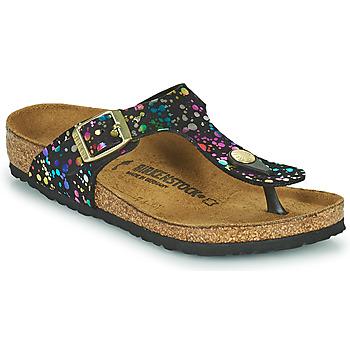 Sapatos Rapariga Chinelos Birkenstock GIZEH Preto