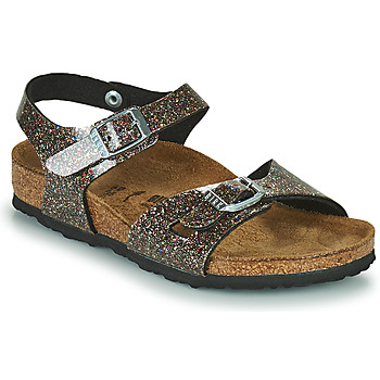 Sapatos Rapariga Sandálias Birkenstock RIO Preto / Ouro