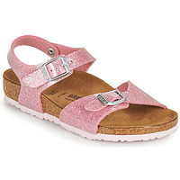 Sapatos Rapariga Sandálias Birkenstock RIO PLAIN Rosa