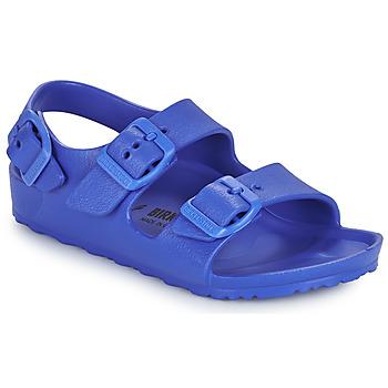 Sapatos Rapaz Sandálias Birkenstock MILANO EVA Azul