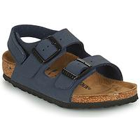 Sapatos Rapaz Sandálias Birkenstock MILANO HL Azul
