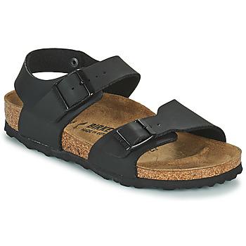 Sapatos Rapaz Sandálias Birkenstock NEW YORK Preto
