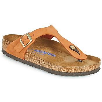 Sapatos Mulher Chinelos Birkenstock GIZEH SFB Laranja