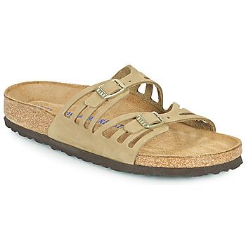 Sapatos Mulher Chinelos Birkenstock GRANADA SFB Cáqui