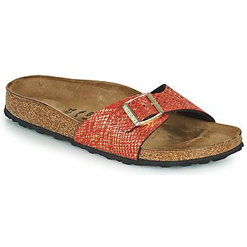 Sapatos Mulher Chinelos Birkenstock MADRID Vermelho / Ouro