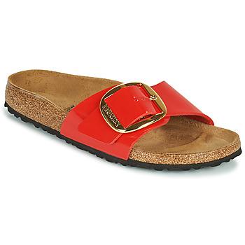 Sapatos Mulher Chinelos Birkenstock MADRID BIG BUCKLE Vermelho