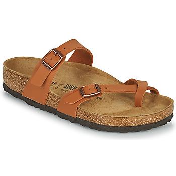 Sapatos Mulher Chinelos Birkenstock MAYARI Castanho