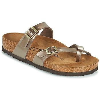 Sapatos Mulher Chinelos Birkenstock MAYARI Ouro