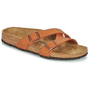 Sapatos Mulher Chinelos Birkenstock YAO BALANCE Castanho