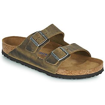 Sapatos Homem Chinelos Birkenstock ARIZONA SFB Cáqui