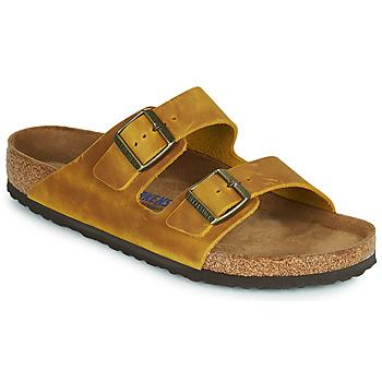 Sapatos Homem Chinelos Birkenstock ARIZONA SFB Amarelo