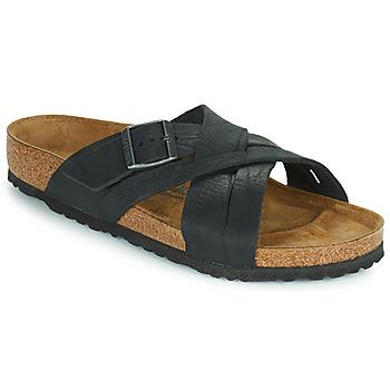 Sapatos Homem Chinelos Birkenstock LUGANO Preto