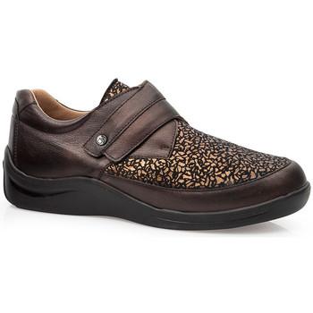 Sapatos Mulher Sapatos & Richelieu Calzamedi SAPATOS  ELÁSTICOS DIABÉTICOS CASUAIS MARRON
