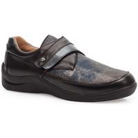 Sapatos Mulher Sapatos & Richelieu Calzamedi SAPATOS  ELÁSTICOS DIABÉTICOS CASUAIS PRETO AZUL