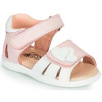 Sapatos Rapariga Sandálias Citrouille et Compagnie OLESS Rosa / Branco