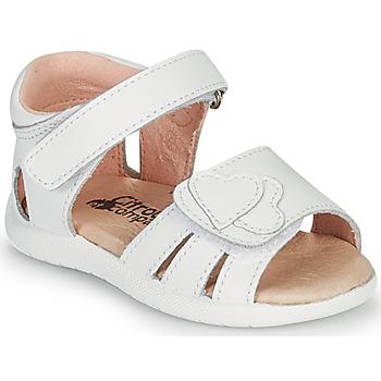 Sapatos Rapariga Sandálias Citrouille et Compagnie OLESS Branco