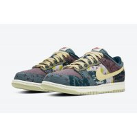 Sapatos Sapatilhas Nike Dunk Low Community Garden Multi-Color/Midnight Turquoise-Cardinal Red-Lemon Wash
