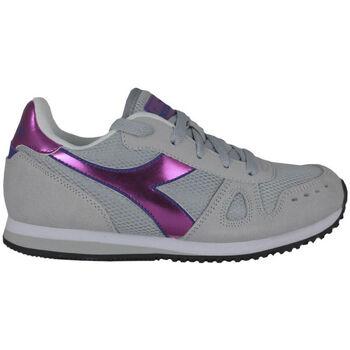 Sapatos Rapariga Sapatilhas de corrida Diadora simple run gs girl 65010 Rosa