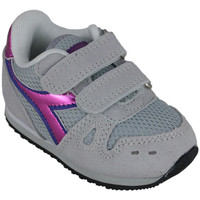 Sapatos Rapariga Sapatilhas de corrida Diadora simple run td girl 65010 Rosa
