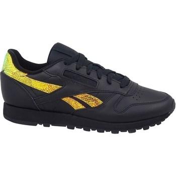 Sapatos Mulher Sapatilhas Reebok Sport Classic Leather Preto, Amarelo