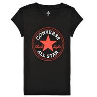 Textil Rapariga T-Shirt mangas curtas Converse TIMELESS CHUCK PATCH TEE Preto