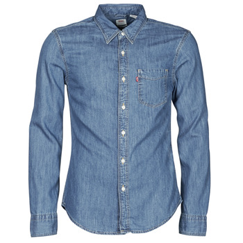 Textil Homem Camisas mangas comprida Levi's SUNSET 1 PKT SLIM Azul