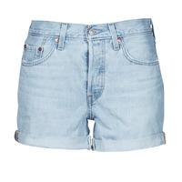 Textil Mulher Shorts / Bermudas Levi's 501 ROLLED SHORT Azul