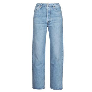Textil Mulher Calças Jeans Levi's RIBCAGE STRAIGHT ANKLE Azul