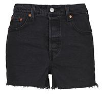 Textil Mulher Shorts / Bermudas Levi's RIBCAGE SHORT Preto