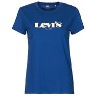 Textil Mulher T-Shirt mangas curtas Levi's THE PERFECT TEE Azul