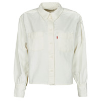 Textil Mulher camisas Levi's ZOEY PLEAT UTILITY SHIRT Branco