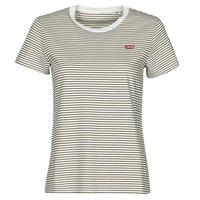 Textil Mulher T-Shirt mangas curtas Levi's PERFECT TEE Bege