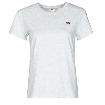 Textil Mulher T-Shirt mangas curtas Levi's PERFECT TEE Cinza