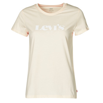 Textil Mulher T-Shirt mangas curtas Levi's THE PERFECT TEE Bege