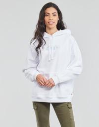 Textil Mulher Sweats Levi's GRAPHIC RIDER HOODIE Branco