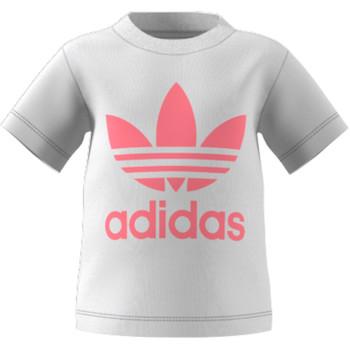 Textil Criança T-Shirt mangas curtas adidas Originals GN8175 Branco