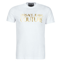 Textil Homem T-Shirt mangas curtas Versace Jeans Couture TIKI Branco / Ouro