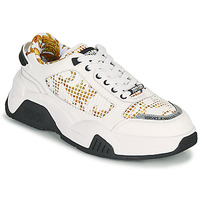 Sapatos Homem Sapatilhas Versace Jeans Couture HATINA Branco / Ouro