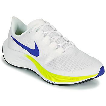Sapatos Homem Sapatilhas de corrida Nike AIR ZOOM PEGASUS 37 Branco / Azul / Amarelo