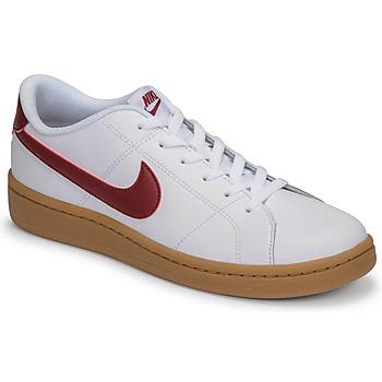 Sapatos Homem Sapatilhas Nike COURT ROYALE 2 LOW Branco / Vermelho