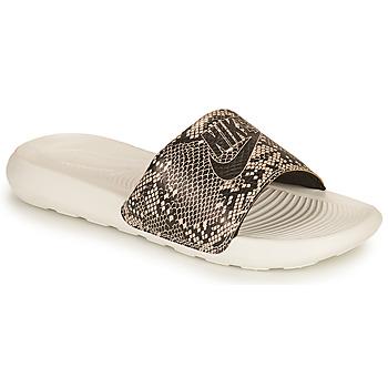 Sapatos Mulher chinelos Nike VICTORI PRINT BENASSI Cáqui