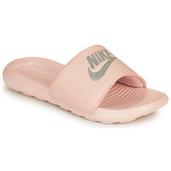 Sapatos Mulher chinelos Nike VICTORI ONE BENASSI Rosa / Prata