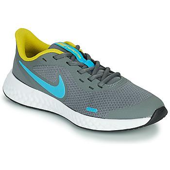 Sapatos Rapaz Multi-desportos Nike REVOLUTION 5 GS Cinza / Azul