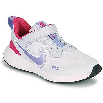 Sapatos Rapariga Multi-desportos Nike REVOLUTION 5 PS Azul / Violeta