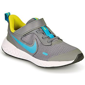 Sapatos Rapaz Multi-desportos Nike REVOLUTION 5 PS Cinza / Azul